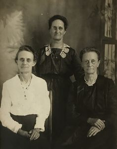 Adelia Earp, Louisa Earp, and Alvira Earp l to r on a cabinet card. I wish I could time travel, these three lovely ladies would have so much to say! Original image from the collection of P.W. Butler.