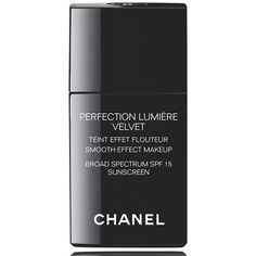 CHANEL PERFECTION LUMIÈRE VELVET SMOOTH EFFECT MAKEUP SPF 15 found on Polyvore