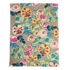 Leeann Yare floral cotton rug