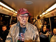 Painting directly on Subjects by Alexa Meade