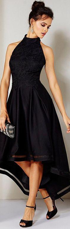 Nicole Miller Embroidered Bodice Satin Dress
