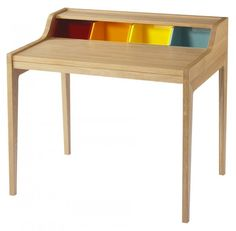 Bureau Hansen Family Remix by Sentou, un joli bureau en bois esprit années 50