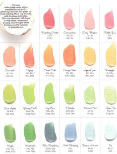 How to get different colored frosting with drops of food coloring! Genius! I want to bake a cake now!
