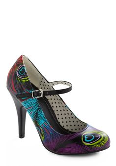 Wing and a Flair Heel - Black, Multi, Red, Green, Blue, Purple, Party, Summer, Fall >> cute!