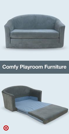 Complete your kids' space with a small, fold-out couch—it's perfect for playdates & sleepovers.
