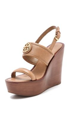 Tory Burch Selma Wedge Sandals... anyone want to offer up their bank account to take a hit in order to get these for me?