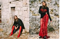 Simona Antonovic make-up artist/ Grazia fashion editorial / Brown smokey eye