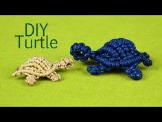 ▶ How to: Macramé Turtle, Tortoise, Tortue, Tortuga, Tartaruga - YouTube