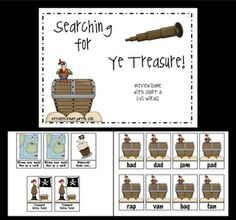 pirate themed literacy freebies from Ketchen's Kindergarten: Shiver Me Timbers...
