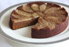 Upside Down Gingerbread Pear Cake (AIP, Paleo)