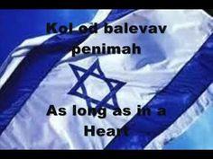 "Anthem of Israel - ""Hatikvah"", ""The Hope"", w/ Hebrew and English lyrics"