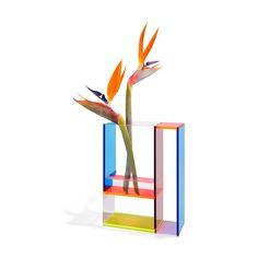 Mondri Vase in color Neon Piet Mondrian, Geometric Form, Burke Decor, Close Image, Floral Arrangements, Neon, Abstract, Blue Yellow, Dream Apartment