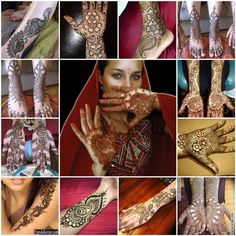 Mehndi is the henna art applied to the hands and feet of an Indian bride. So beautiful!
