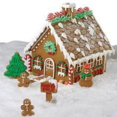 gingerbread houses need... candy canes, gumdrops & lots of icing!