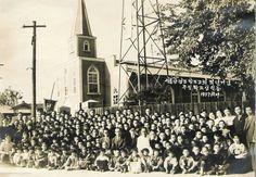 1957년 양평동교회 50주년 기념 Korea, History, Photography, Historia, Photograph, Fotografie, Photoshoot, Korean, Fotografia