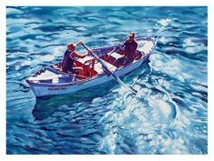 """Daily Paintworks - """"Going fishing."""" - Original Fine Art for Sale - © Graham Berry"""