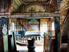Uvdal Stave Church interior 01 - Rosemaling - Wikipedia