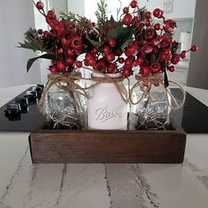 Christmas Decor, Christmas Dining Table Decor, Rustic Christmas Centerpiece,Farmhouse Christmas, Chr - Happy Christmas - Noel 2020 ideas-Happy New Year-Christmas Christmas Dining Table, Farmhouse Christmas Decor, Christmas Home, Farmhouse Decor, Christmas Bathroom Decor, Christmas Mantles, Plaid Christmas, Christmas Living Rooms, Homemade Christmas