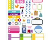 Mila Sampler Die Cut Planner Sticker, 50 stickers per sheet - 214
