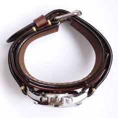 Náramky - Pánske nesymetrické hodinky hnedé - 6501121_