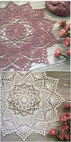 Moonpetals Decoration Free Crochet Pattern #crochet #yarn #crafts #homemade #handmade #homedecor