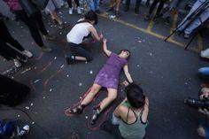 Estudiantes protestan en Argentina por caso Ayotzinapa. Foto: Xinhua / Martín Zabala