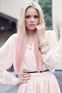 Pastel hair - rosa Spitzen!
