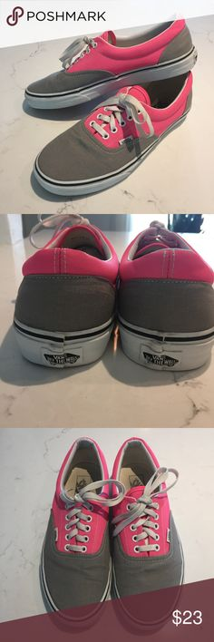 b163a152d260ce Vans Unisex Skate Shoes Pink and Grey Vans Unisex Era Skate Shoes