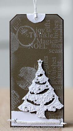 Love this Christmas tag by StampingMathilda