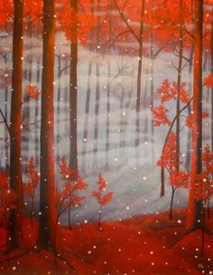 """Anthony Lusignan """"First Fall"""" Autumn Painting, Autumn Art, Fall Art Projects, Art Background, Love Art, Unique Art, Illustrations Posters, Painting & Drawing, Saatchi Art"""