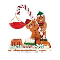 gingerbread man candle - tealight & wax melts by Yankee
