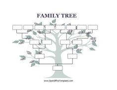 Decorated with a cute, craft tree, this printable family tree has four generation boxes. Free to download and print