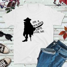 Pirate Shirts, Pirate Outfit, It's a Pirate's Life for Me Boat Shirts, Pirate Shirts, Fishing Shirts, Couple Shirts, Family Shirts, Kids Shirts, T Shirts For Women, Pirate Life, Custom Shirts