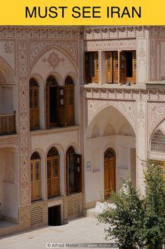 Kashan, Iran Persian Pattern, Persian Motifs, Persian Architecture, Architecture Old, Persian Beauties, Islamic Art, Beautiful World, Iran, Taj Mahal