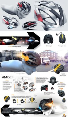 All-in-One Bicycle Helmet: Sleek Integrated Lights & Signals | WebUrbanist