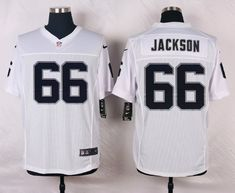 Men's NFL Oakland Raiders #66 Jackson White Elite Jersey