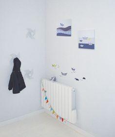 Sticker décoratif chambre d'enfant et bébé: Villages en bord de mer