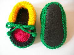 Botitas de bebé Rasta. Recién nacido a nueve por CrochetKat1952, £6,99