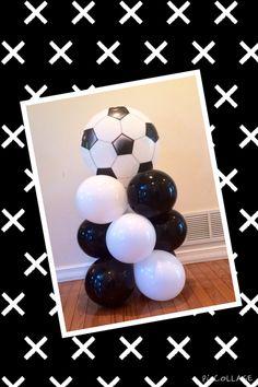 Soccer balloon mini column