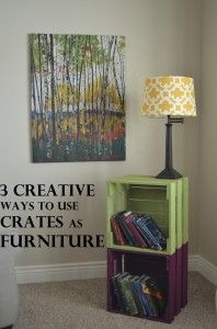 """Original from website: """"CRATES Crates can do amazing things. I kind of love them. We were having a little pow-wow to celebrate my new baby at our house, expecting about 35 people. It was the night before and my hubby and I decided that our living room was too bare and we needed …"""""""