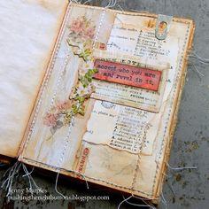 Journal Inspiration, Journal Ideas, Journal Art, Junk Journal, Art Journaling, Handmade Books, Altered Books, Mini Books, Tim Holtz