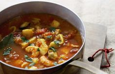 Saffron fish soup - Waitrose & Partners/loveFOOD Best Prawn Recipe, Prawn Recipes, Fish Recipes, Seafood Recipes, Soup Recipes, Potato Recipes, Dinner Recipes, Cooking Recipes, Easy Pasta Dishes