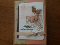 Met stempelblok afdruk en 2 vlinders