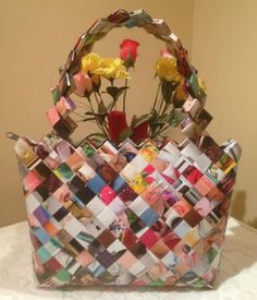 Geanta multicolora  - CreatiiHandMade | Crafty