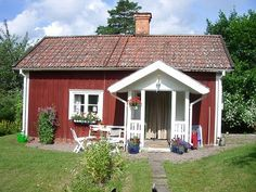 Sweden House, Red Houses, Las Vegas, Stables, Sunroom, Countryside, Tiny House, Sweet Home, Shed