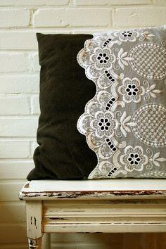 Get Free Food Coupons - http://funxnd.info/?1028587    DIY Lace Pillowcase allison_kunze