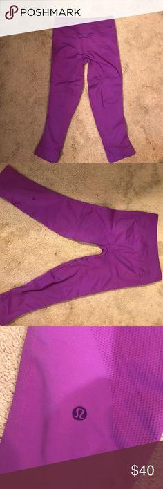 Purple lululemon leggings Thicker eb and flow type leggings lululemon athletica Pants Leggings