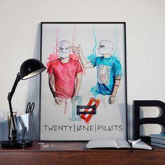 Twenty One Pilots 21 pilots poster by ADAARTillustrations on Etsy