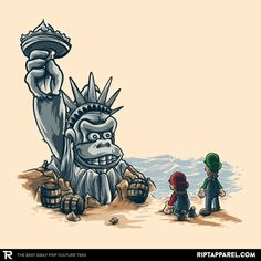 ''Planet of the Kong'' by AlbertoArni available today only, 7/14/17, at RIPT Apparel
