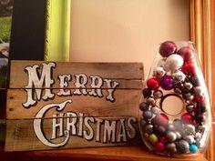 Merry Christmas Sign / Vintage Christmas Sign